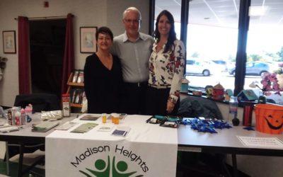 Madison Heights Community Coalition at the Mini Health Fair…