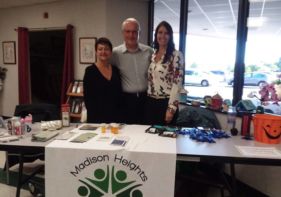 Madison Heights Community Coalition at the Mini Health Fair…
