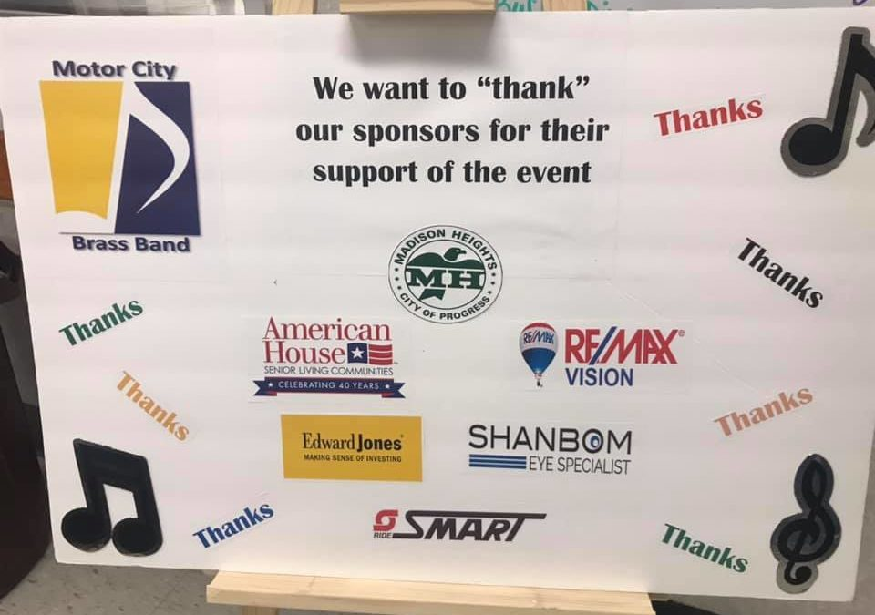Sponsor for Event at the Madison Heights Active Adult Center